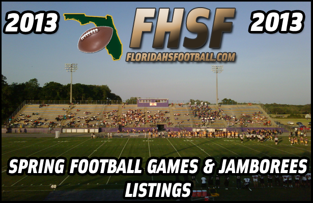 Listing of 2013 Spring Football Games & Jamborees