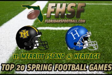 TOP 20 SPRING FOOTBALL GAMES: 11. Merritt Island at Heritage