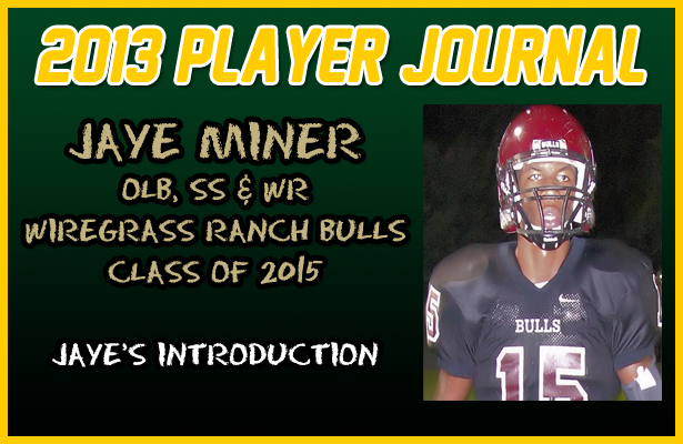 PLAYER JOURNAL: Wiregrass Ranch SS/LB/WR, Jaye Miner – Introduction