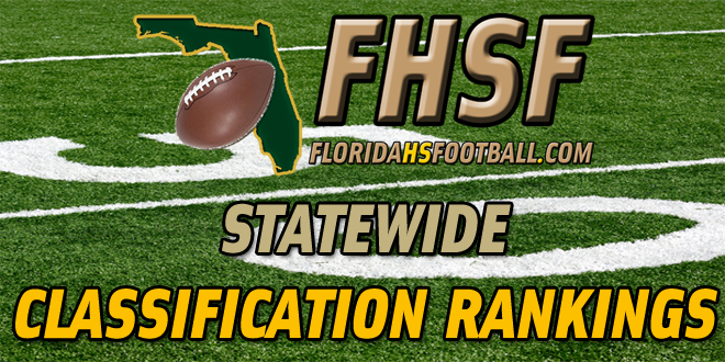2013 Statewide Classification Rankings – Preseason