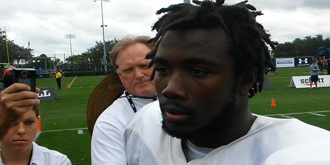 VIDEO: 2014 Under Armour All-American Dalvin Cook talks recruiting, practice on first day