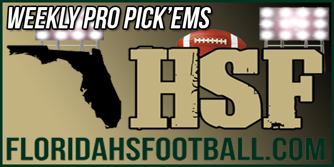 Pro Pick'ems From Week 1