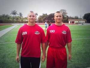 2015 Tavernier Coral Shores Running Back's Henry (left) and George (right) Jacobsen.