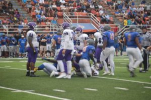The Hurricanes took on West Orange in their 2016 spring game, showing off some of what they hope to bring to the field this fall. (Photo Credit: Gainesville HS Quarterback Club)
