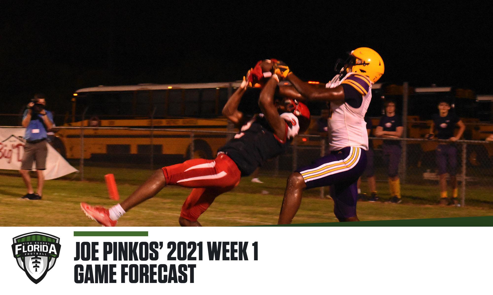Joe PInkos Week 1 Game Forecast.
